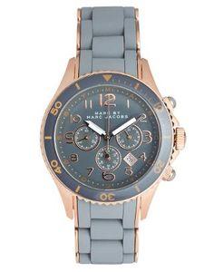Marc By Marc Jacobs | Marc By Marc Jacobs Grey And Rose Gold Chronograph Bracelet Watch at ASOS