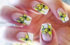 Cómo hacer flores en las uñas a mano, hacer flores en uñas.  Unete al CLUB #uñas #acrylicnails #uñasdemoda
