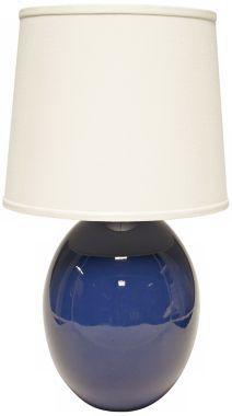 Haeger Potteries Blue Ceramic Egg Table Lamp - #EUU4987 - Euro Style Lighting