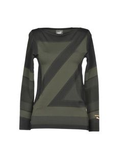 Puma T-shirts Damen PumaPuma Neue Trends, Outfit, Military Clothing, Blouse, Long Sleeve, Tops, Sleeves, Sweaters, Stuff To Buy