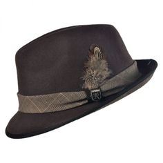 Crushable Pinch Front Fedora Hat available at  Villagehatshop Fedora Hat 859fbd054dce