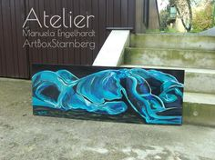 Acryl-Switch-Gemälde Dreaming Blue & Red, Seite 1