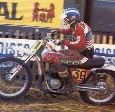 Jim Pomeroy, American to win a European GP Motorcycle Tires, Scrambler Motorcycle, Bultaco Motorcycles, Motorbikes, Old Scool, Motocross Riders, Custom Bobber, Vintage Motocross, Dirtbikes
