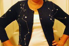 Starry Night constellation cardigan