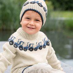 GG19-24 Traktor genser & lue lys grå | Gjestal Crochet Hats, Beanie, Fashion, Threading, Knitting Hats, Moda, Beanies, Fasion, Trendy Fashion
