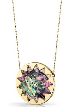 House of Harlow 1960 Abalone Starburst Pendant Necklace, $80, available at The Trend Boutique.