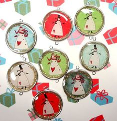Resin Crafts: Resin For Christmas Envirotex Lite Christmas Ornament Crafts, Christmas Snowman, Christmas Crafts, Christmas Ideas, Xmas, Felt Snowman, Snowman Crafts, Diy Projects To Try, Craft Projects