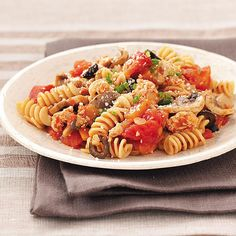 Turkey Spiral Skillet Recipe -Family-friendly and everyday delicious, this is a little healthier and lighter twist on classic beef and pasta dishes. It's fast and full of flavor. —Mandy Phelps, Gresham, Oregon