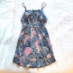 Aritzia silk dress Gorgeous silk dress with a dreamy watercolor print. Size xxsmall Aritzia Dresses