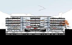 Mecanoo, Martinez + Johnson Selected to Redesign Mies' MLK Memorial Library,© Mecanoo with Martinez + Johnson Architecture