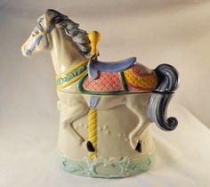 Cookie Jar Beautiful Carousel Horse 1991 by TEAandSHAKER on Etsy