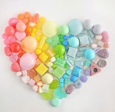 Coloured sweeties heart.