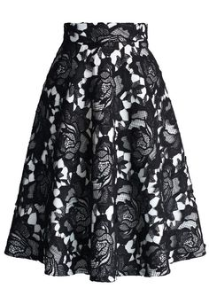 My Dear Roses Lace A-line Midi Skirt in Black - Skirt - Bottoms - Retro, Indie and Unique Fashion Unique Fashion, Womens Fashion, Led Dress, Rose Lace, Romantic Lace, Cool Style, My Style, Midi Skirt, Lace Skirt
