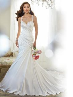 Sophia Tolli is a designer wedding dress line that features incredibly romantic wedding dresses from charming A-line silhouettes to classic high necklines. Sophia Tolli wedding dresses will make your wedding day feel even more magical. Lace Wedding Dress, Wedding Dresses With Straps, Fit And Flare Wedding Dress, 2015 Wedding Dresses, Cheap Wedding Dress, Wedding Dress Styles, Designer Wedding Dresses, Bridal Dresses, Wedding Gowns