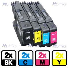 8x Brother / - C/Y/M/BK - Multipack Set of 8 Brother Compatible Ink Cartridges for Brother MFC-J6510DW MFC-J6710DW MFC-J6910DW MFC-J6950DW Printer Inks (Contains: 2x 2x 2x 2x LC1280M) LC1280 LC1240 LC1280BK LC1280C LC1280Y - Item No:  LC1240/LC1280  Item include:  2 x LC1240/LC1280 Black 2 x LC1240/LC1280 Cyan 2 x LC1240/LC1280 Magenta 2 x LC1240/LC1280 Yellow  Packing:  built-in anti-static bag  Compatible printers:  DCP J525W J725DW J925DW MFC J6510DW J6910DW J6710DW J6710