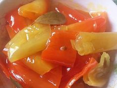 Fruit Salad, Dips, Stuffed Peppers, Vegetables, Food, Chutney, Pickles, Canning Recipes, Homemade Food