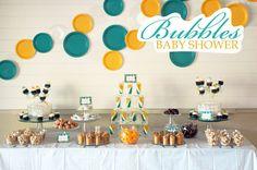 """Bubble baby shower """"about to pop"""", things that pop, pop 'em, bubble bath favors..."""
