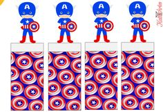 Captain America Free Printable Original Nuggets Wrappers.