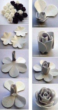 折纸教程 手工折纸玫瑰教程