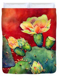 """Desert Bloom Queen (88"""" x 88"""") Duvet Cover by Hailey E Herrera"""