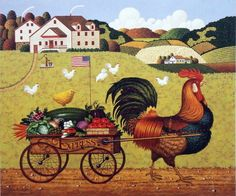 Charles Wysocki Rooster Express