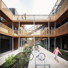 18 logements collectifs sociaux , Montreuil, 2014 - LA Architectures