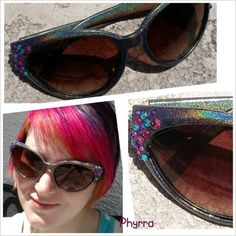 Glitter and Holo Sunglasses...I must make my own!!