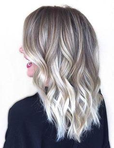 Ice blonde/grey ombré