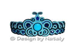 OOAK Soutache Jewelry Bracelet Morpho Blue by DesignByNataly, $27.00