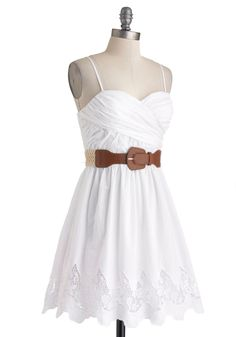 Country Craft Festival Dress. Every time the town hosts its annual craft show, youre always one of the first people there. #white #modcloth - Stag n Doe