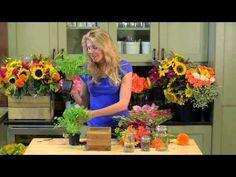 Sarah shows you how to create a beautiful arrangement with seasonal supermarket flowers and herbs // sarah von pollaro