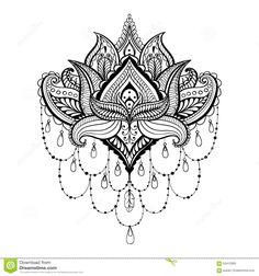 tatuagem flor de lotus boho - Pesquisa Google