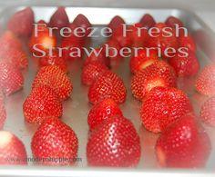A Modern Hippie: Freezing Fruit