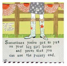 Big Girl Boots Magnet | Curly Girl, Magnets, Leigh Standley, Friend Magnet, Gift for Friend | Catching Fireflies