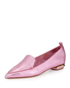 Nicholas Kirkwood Metallic Point-Toe Loafer, Pink - check out this shoe in 22 colors at Bergdorf Goodman (=)
