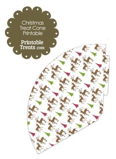 Reindeer Printable Treat Cone from PrintableTreats.com
