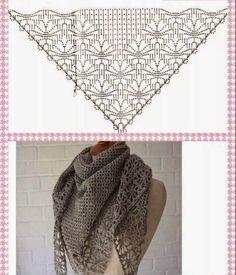 Exceptional Stitches Make a Crochet Hat Ideas. Extraordinary Stitches Make a Crochet Hat Ideas. Crochet Shawls And Wraps, Knitted Shawls, Crochet Scarves, Crochet Clothes, Crochet Diy, Crochet Chart, Crochet Stitches, Crochet Patterns, Shawl Patterns
