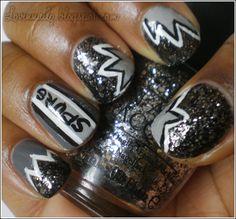 spurs nail art