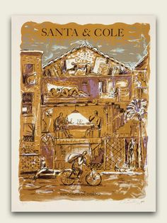 Xano Armenter serigraph for Santa & Cole, 1989.   Clic to find out more inspiration