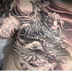 Irezumi, Japanese Phoenix Tattoo, Celtic Dragon Tattoos, Phoenix Tattoo Design, Phoenix Art, Asian Tattoos, Japan Tattoo, Desenho Tattoo, China Painting