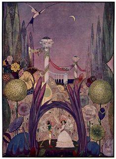 fairytale illustrations of early 20th century Danish illustrator Kay Nielsen.