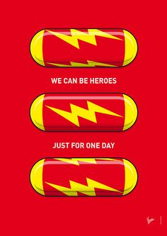 We can be heroes, just for one day. (If only there were superhero pills...) #theflash