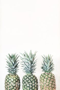 """3 P's""- Three pineapples print. I think they are so cute! Great for kitchen decor. Professionally printed upon order. My photographs are professionally printed with archival inks on premium acid-free"