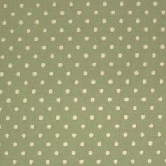Sage Green 100% Cotton SML White Polka Dot Spot Fabric in Crafts, Sewing & Fabric, Fabric | eBay