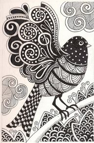 Zentangle Examples | zentangle pattern ideas