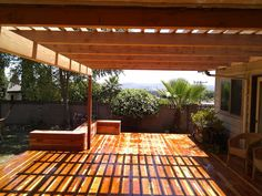 Los Angeles Decks By YourDeckBuilder.com: Redwood Deck and Pergola, Monterey Park California