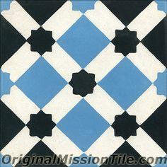 Handmade cement tile by Original Mission Tile - all cement tiles can be customized to create your own according to your project's specs.