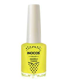 Verniz de Luxo - Verniz Inocos A Pipoca Mais Doce Inhos Pastel e Txarans Fluorescentes - Amarelo Txaran 9ml