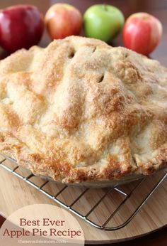 Recipe: Best Ever Apple Pie & Recipe for a Double Pie Crust. Serve a slice up after dinner with ice cream and caramel sauce for the ultimate!