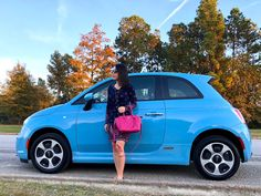I just bought this electric blue FIAT 500e hatchback #Fiat last Friday and really like it.